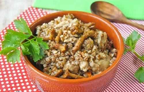 гречка с курицей и грибами рецепт