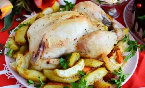 курица с картошкой в духовке в рукаве